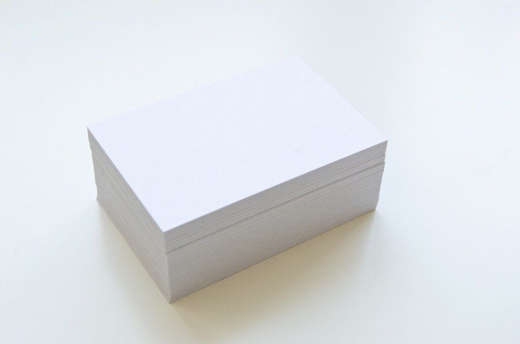 business cards, show, empty